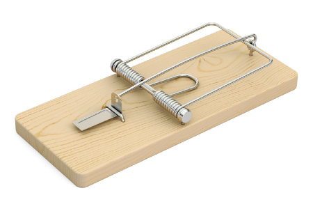 Mouse trap representing that there are unavoidable traps in adopting other organisations' KPIs. Credit: https://www.istockphoto.com/portfolio/AlexLMX