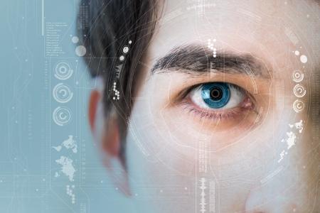 Focus on the eye of a man. Credit: metamorworks